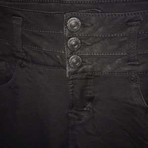 Juniors high waisted black jeggings size 3